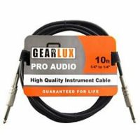 "Gearlux 10ft Noiseless 1/4' to 1/4"" Guitar Cable"