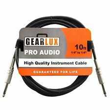 """Gearlux 10ft Noiseless 1/4' to 1/4"""" Guitar Cable"""