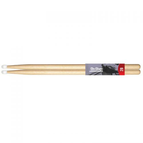 OnStage Hickory Drumsticks 2B Nylon