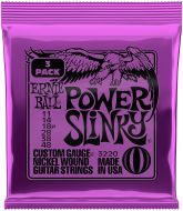 Ernie Ball 3220 Regular Slinky Nickel Wound Electric Guitar String Sets, 3 Pack, 9-46