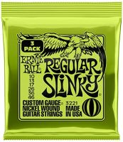Ernie Ball 3221 Regular Slinky Nickel Wound Electric Guitar String Sets, 3 Pack, 10-46